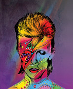 Pop Star Metal Prints - David Bowie Metal Print by Mark Ashkenazi