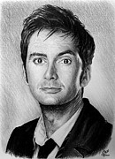 Face Drawings - David Tennant by Andrew Read