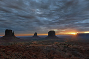 Sandra Bronstein Photo Posters - Dawn at Monument Valley Poster by Sandra Bronstein