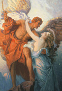 Embrace Paintings - Day and the Dawnstar by Herbert James Draper