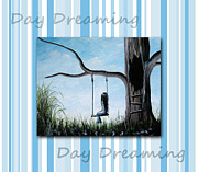 Swing Art Paintings - Day Dreaming by Shawna Erback by Shawna Erback