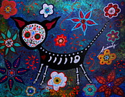 Dog Art Of Chihuahua Posters - Day Of The Dead Chihuahua Poster by Pristine Cartera Turkus