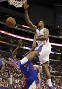 Dunk Photo Metal Prints - DeAndre Jordan Poster Metal Print by Sanely Great