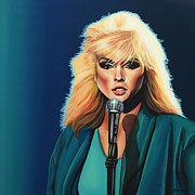 Lines Paintings - Deborah Harry or Blondie by Paul  Meijering