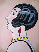 Self Taught Prints - Deco Diva Print by Leslie Manley