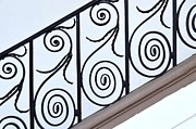 Grillwork Posters - Decorative Wrought Iron 3 Poster by Allen Beatty