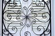 Grillwork Prints - Decorative Wrought Iron 4 Print by Allen Beatty