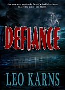 Book Jacket Design Art - Defiance book cover by Mike Nellums