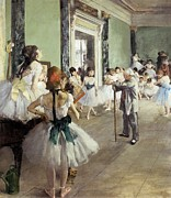 Ballet Dancers Posters - Degas, Edgar 1834-1917. The Dancing Poster by Everett