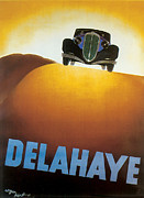 Advertisment Posters - Delahaye Cars - Vintage Poster Poster by World Art Prints And Designs