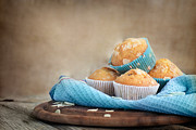 Frosting Prints - Delicious muffins Print by Mythja  Photography