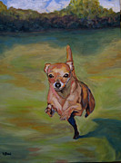 Dog Paintings - Delilah by Kellie Straw