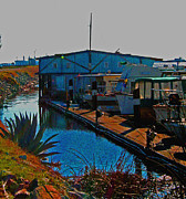 Boats Digital Art Prints - Delta Loop Marina Print by Joseph Coulombe