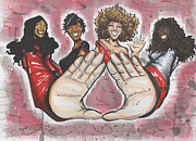 Greek Mixed Media Framed Prints - Delta Sigma Theta Sorority Inc Framed Print by Tu-Kwon Thomas