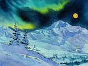 Mckinley Painting Prints - Denali Night Print by Teresa Ascone