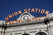 Colorado Posters Framed Prints - Denver - Union Station Framed Print by Frank Romeo