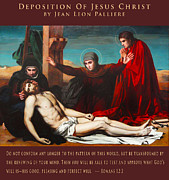Jesus Images Digital Art - Deposition Of Jesus Christ by Jean Leon Palliere