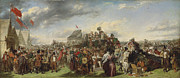 Horse Images Digital Art Prints - Derby Day Print by William Powell Frith