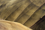 Painted Photos - Desert Lines by Mike  Dawson