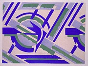 Purple Tapestries - Textiles Prints - Design from Nouvelles compositions decoratives Print by Serge Gladky