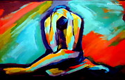 Vibrant Colors Framed Prints - Despair Framed Print by Helena Wierzbicki