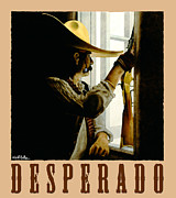 Old West Painting Prints - Desperado Print by Will Bullas
