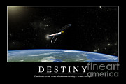 Breaking Apart Posters - Destiny Inspirational Quote Poster by Stocktrek Images