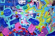 Electronic Paintings - Detail 1 from Rube Goldberg Abstract by Regina Valluzzi