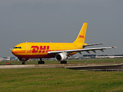 Klm Prints - DHL Airbus A300 Print by Paul Fearn