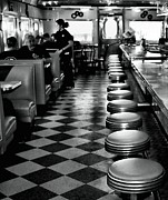 Waitress Framed Prints - Diner Framed Print by James Stough
