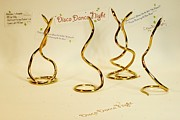 Brass Sculptures - Disco Dancing Snakes by Kevin Schrader