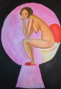 Toilet Painting Originals - Discreditable practices by Maria Kagan