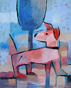 Abstract Dogs Paintings - Doggy by Lutz Baar
