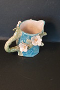 Pitcher Ceramics - Dogwood ladybug pitcher Handmade in USA by Debbie Limoli