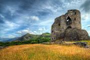 Architecture Digital Art Prints - Dolbadarn Castle Print by Adrian Evans