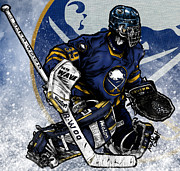 Hockey Mixed Media - Dominik Hasek by Nate Gandt