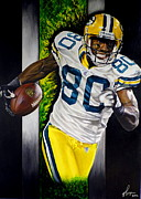 Green Bay Prints - Donald Driver Original Painting Print by Dan Troyer