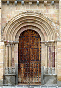 Medieval Entrance Photo Prints - Door Print by Frank Tschakert