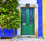 Blue Cobblestone Prints - Door Number Nineteen Print by David Letts