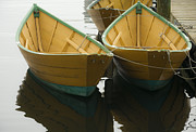 Dories At The Dock Print by David Stone