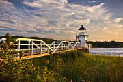 New England Lighthouse Prints - Doubling Point Lighthouse Print by Benjamin Williamson