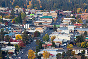Bend Metal Prints - Downtown Bend oregon from Pilot Butte Metal Print by Twenty Two North Photography