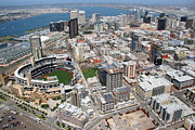 San Diego Padres Stadium Photo Framed Prints - Downtown San Diego Framed Print by Bill Cobb