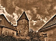 Transilvania Metal Prints - Draculas City Metal Print by Ion vincent DAnu