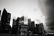 Black Commerce Art - Dramatic Singapore by Shaun Higson