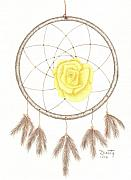 Catcher Drawings - Dream Catcher by Dusty Reed