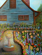 Pathways Painting Originals - Dream Garden by Laurie Morgan