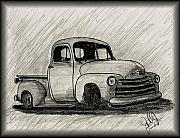 Chevrolet Truck Drawings - Dream Truck by John Jones