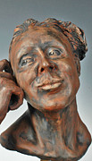 Portrait Sculpture Sculpture Prints - Dreamweaver Print by Eduardo Gomez