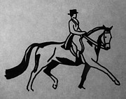 Dressage Drawings - Dressage by Joann Renner